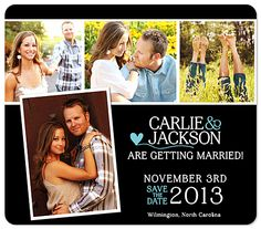 Photo Collage Save the Date Magnets, Country Heart