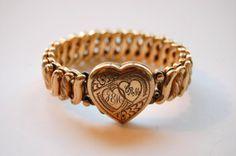 Vintage Locket Bracelet Sweetheart by MidwestAtticTreasure on Etsy, $65.00