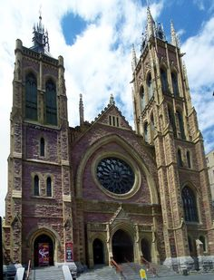 St. James United Church in Montreal, Quebec. A United Church of Canada church, founded in 1803 as a Methodist church, this building built in 1889.