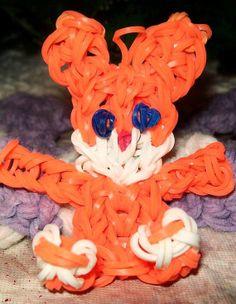 Easter Bunny Rainbow Loom Charm / Teen Charm /Kids Charm / Cute/Rainbow Loom Accessories on Etsy, $4.00