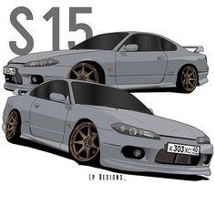 'Nissan Silvia Classic T-Shirt by - Nissan S15, Nissan 350z, Nissan Silvia, Street Racing Cars, Auto Racing, Silvia S15, Volkswagen, Car Vector, Honda Civic