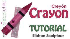 Tutorial: Back to School Crayon Ribbon Sculpture (English/Español)