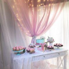 Romantic sweet table at Kukua Punta Cana