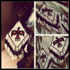 Native American Earrings Cratediggz on Etsy