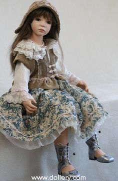 """""""Gabriela"""" ($895) by Zofia Zawieruszynski Collectible Dolls"""