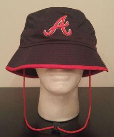 Era Atlanta Braves Mens Basic Action Bucket Hat 2xl Black red  12f3c10057aa
