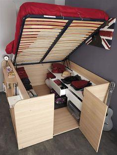cama multiuso com closet pequeno