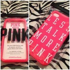 Victoria's Secret iPhone case :) #lesstalkmorepink