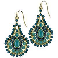 paisley pear earrings...turq & jade