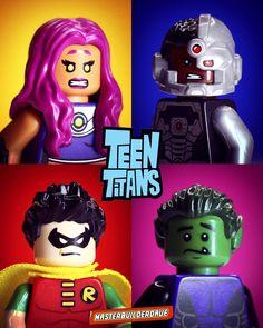 Teen Titans _____________________________________ _____________________________________ by masterbuilderdave Lego Teen Titans, Teen Titans Tower, Lego Pics, Lego Pictures, Lego Minifigure, Lego Ninjago, Teen Tians, Lego Universe, Lego People