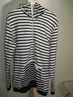 Norse Projects Men's Striped Navy Blue Ivory Zipper Hoodie Sweaterxl | eBay