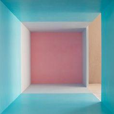 Erin O' Keefe: Aqua Grey Pink Side Light archival pigment print, x Design Set, Pool Designs, Color Inspiration, Daily Inspiration, Decoration, Contemporary Art, Aqua, Lights, Interior Design