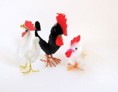 Vintage Chenille Rooster Chick  Easter Decoration by teresatudor, $8.50