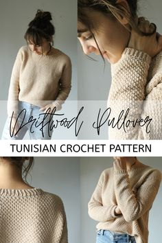 Tunisian Crochet 27532 It is filled with texture from the Tunisian honeycomb stitch and features unique slst ribbing. The pattern offers row by row instructions, has color coordinated sizes, and includes diagrams/example photos so there's no confusion. Cute Crochet, Crochet Crafts, Crochet Geek, Tunisian Crochet Patterns, Crochet Sweater Patterns, Crochet Sweaters, Lace Patterns, Crochet Granny, Sewing Patterns