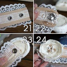 belt tutorial, but I'd make a cuff bracelet this way