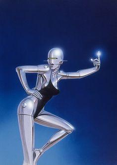 The uncannily SEXY retro robot pinups of Hajime Sorayama Art Expo, Retro Robot, Robot Girl, Futuristic Art, Cyberpunk Art, Sci Fi Art, Grafik Design, Looks Vintage, Surreal Art