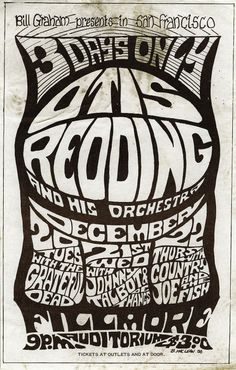 Otis Redding at the Fillmore, San Francisco. December 20-22,1966