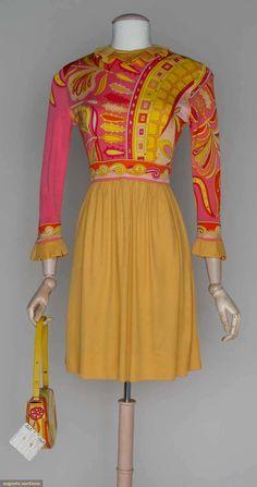 PUCCI dress and handbag, 1960s
