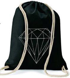 Diamant Diamond / Turnbeutel Gymsac / SCHWARZ BLACK