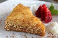 Griechische Baklava - Famous Last Words Vegetarian Turkish Recipe, Turkish Soup Recipe, Vegetarian Turkey, Vegetarian Lentil Soup, Turkish Recipes, Greek Recipes, Greek Desserts, Köstliche Desserts, Delicious Desserts