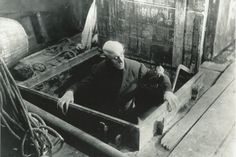 The head of F.W. Murnau (director of 1922 film 'Nosferatu') is missing.