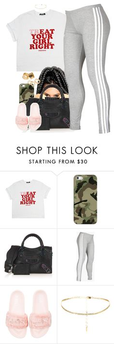 """""""Untitled #947"""" by cjasmyne ❤ liked on Polyvore featuring Casetify, Balenciaga, adidas, Puma and Pieces"""