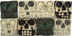 VanTiki presents: Skull Tiles -The Tiki Tiles - New Spooky Skulls!