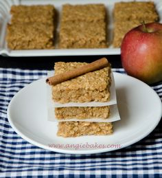 Jablkovo-škoricový ovsený koláč (flapjack) | Angie