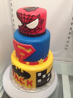 Fondant Superhero Cake How to make Fondant and other tutorials here