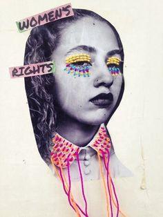 Womens Rights Victoria Villasana Appropriation Art, Textiles Sketchbook, Art Sketchbook, Pop Art, A Level Art, Identity Art, Gcse Art, Art Portfolio, Embroidery Art