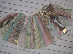 Scrap fabric skirt