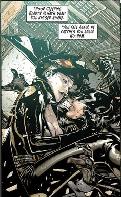 The new 52 Batman and Catwoman. When I read this in the Joker's voice, it's just chilling.