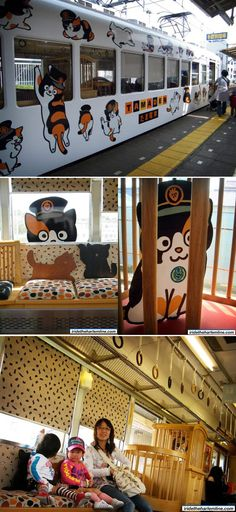 The Wakayama Electric Railway in Japan — billed as the cutest train in the world — is called the Tama Densha, Tama being the station's cat.