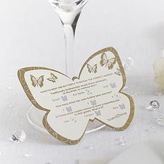 Butterfly Scratchcard Wedding Trivia buterflies buterfly butterflies decorations entertainments fun games gold party sil