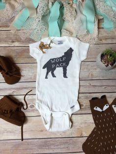 WOLF PACK Animal Baby Onesie® Baby Boy Clothes by BittyandBoho