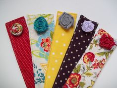 these are book marks or cute idea to use left over fabric, more durable than paper