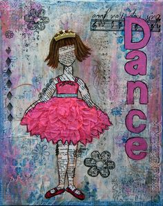 Items similar to Mixed Media Original Art - Dancing Girl on Etsy Collage Art Mixed Media, Mixed Media Canvas, Mix Media, Decoupage, Art Journal Pages, Art Journaling, Journal Covers, Girl Dancing, Art Journal Inspiration
