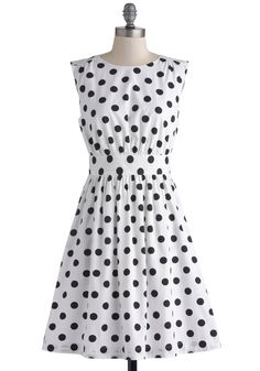 Too Much Fun Dress in Black Dots, #ModCloth