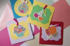 ♥  Set Karten - Grußkarten von FrlBetty  auf DaWanda.com