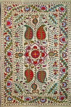 Beautiful vintage Suzani carpet