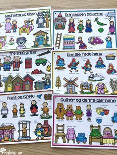 Støttemateriell for å arbeide med eventyr som tema, med fokus på språkopplæring i samme slengen! Eventyr er alltid gøy, og bakt inn i det kan man arbeide med bokstaver og lyder, stavelser, alfabetisering, silhuett-oppgaver som gir elevene trening i bokstavenes plassering, rimord. Eventyrene er: Hans og Grete, De tre bukkene bruse, Rødhette, Jack og bønnestengelen, Den lille røde høna, Gullhår og de tre bjørnene, Keiserens nye klær, Prinsessen på erten, Tre små griser, Askepott og flere! Holiday, Christmas, Activities, Comics, Fun, Blog, Crafts, Inspiration, Poster