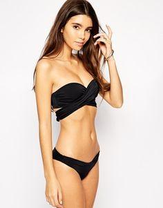 Enlarge ASOS Cross Wrap Bandeau Bikini Top