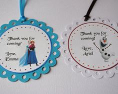 Personalized Frozen Elsa Anna Olaf Happy Birthday Thank You Snow MuchTags for Favors Goody Bags Frozen Elsa And Anna, Frozen Princess, Elsa Anna, Tutu Cakes, Birthday Thank You, Happy Birthday, Beautiful Cupcakes, Frozen Theme, Theme Color