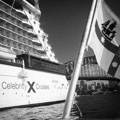 | Celebrity Solstice || Docked @ Overseas Passenger Terminal || The Rocks Circular Quay || Sydney Harbour ||  #celebritysolstice #cruise #cruiseship #celebritycruises #sydneyharbour #sydneyharbourbridge by quinlens http://ift.tt/1NRMbNv