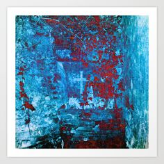 The Grotto Art Print by uteb Art Prints, Image, Painting, Abstract Artwork, Art, Pictures, Abstract