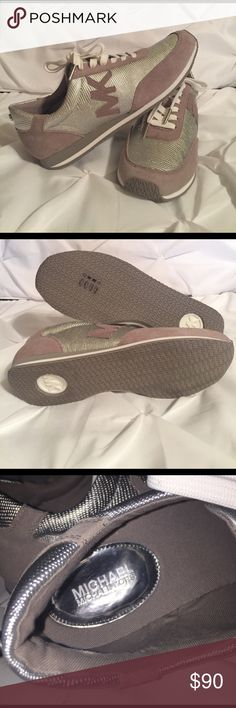 Michael Kors Silver Sneakers Never been worn, in excellent condition. Michael Kors Shoes Sneakers