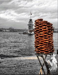 simit & Maiden Tower ... Istanbul Turkey