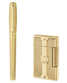S.T. Dupont Humphrey Bogart Collection S.T. Dupont celebrates its 140th anniversary by honoring one very special customer, Mr. Humphrey Bogart. Inspired by a bespoke order Bogart made in 1947, the collection is swathed in 18k yellow gold that is both polished and features their Grain d'orge finish.