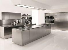 cuisine design en inox par Euromobil