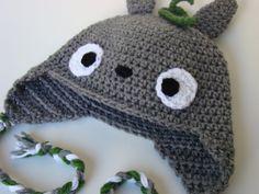 Totoro Crochet Beanie/Hat by kyleesmama on Etsy